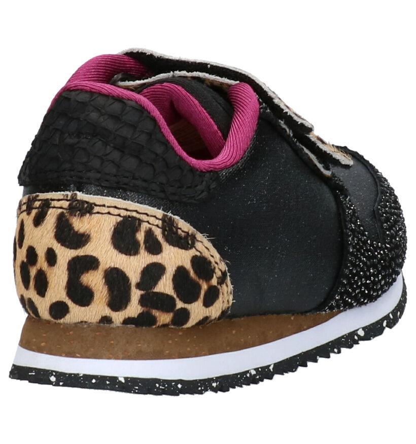Woden Wonder Zwarte Sneakers in stof (259648)