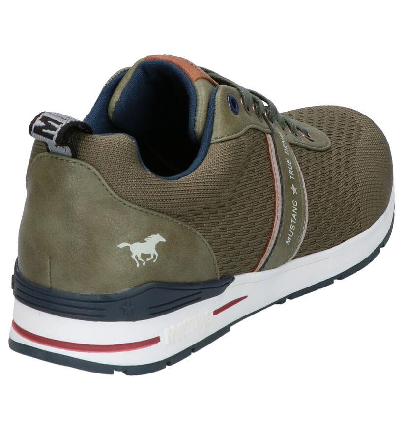 Mustang Chaussures basses en Vert kaki en simili cuir (271419)