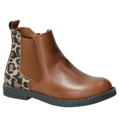 Milo & Mila Ago Blauwe Boots in leer (257715)