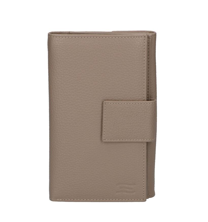 Crinkles Porte-monnaie à rabat en Noir en cuir (308173)