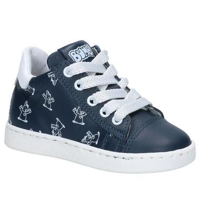 Bumba Donkerblauwe Sneakers in leer (266031)
