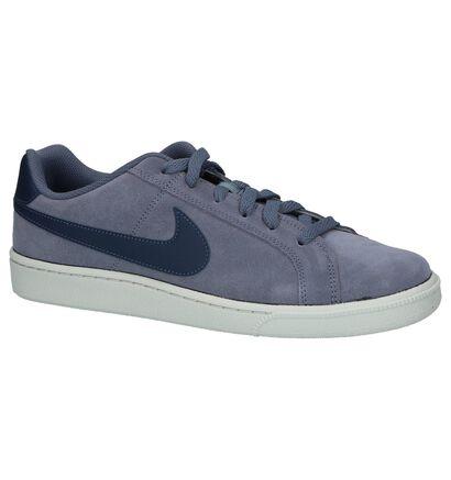 Nike Court Royale Blauwe Sneakers in daim (209848)