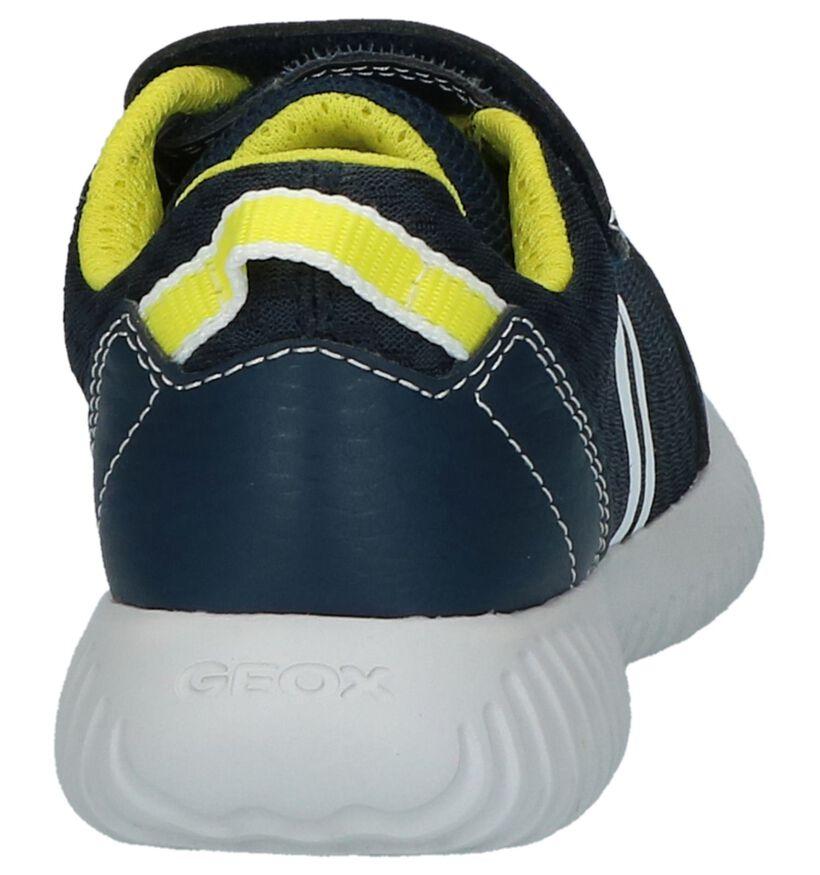 Geox Lage Geklede Sneakers Blauw in stof (210534)