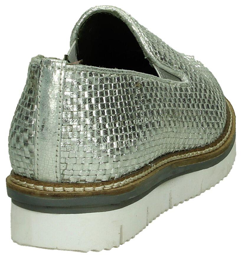 Via Roma Chaussures slip-on en Argent en cuir (192788)