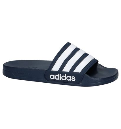 huge discount 76b99 68573 adidas Sandales de bain (Noir), Bleu, pdp