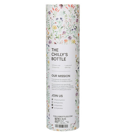 Chilly's Floral Gourde en Blanc 750 ml (267353)