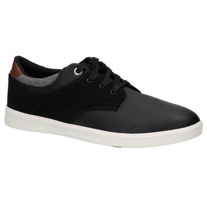 Zwarte Sneakers Jack & Jones Spencer in kunstleer (253208)