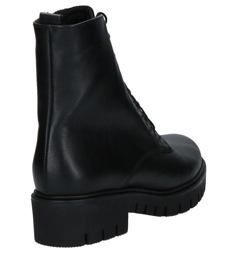 Gabor Comfort Zwarte Boots in leer (260118)