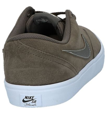 Nike SB Check Solar Zwarte Skateschoenen, Taupe, pdp