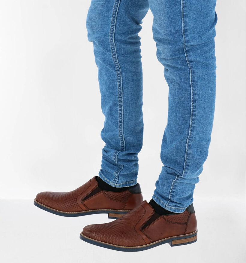 Rieker Chaussures slip-on en Cognac en cuir (271982)