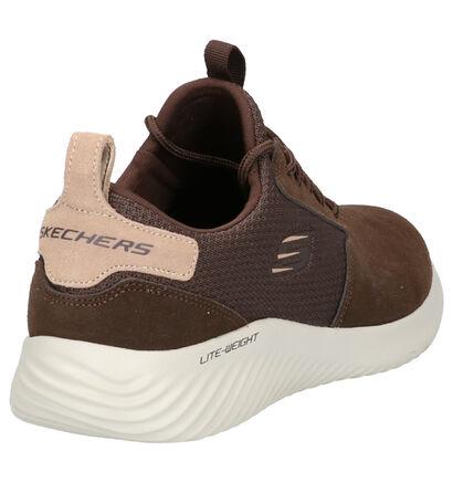 Skechers Bounder Bruine Sneakers in daim (262781)