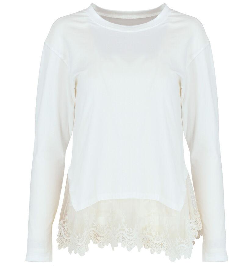 Carla Giannini T-shirt manches longues en Blanc (279409)