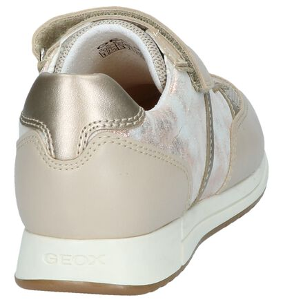 Beige Lage Sneakers Geox in leer (237954)