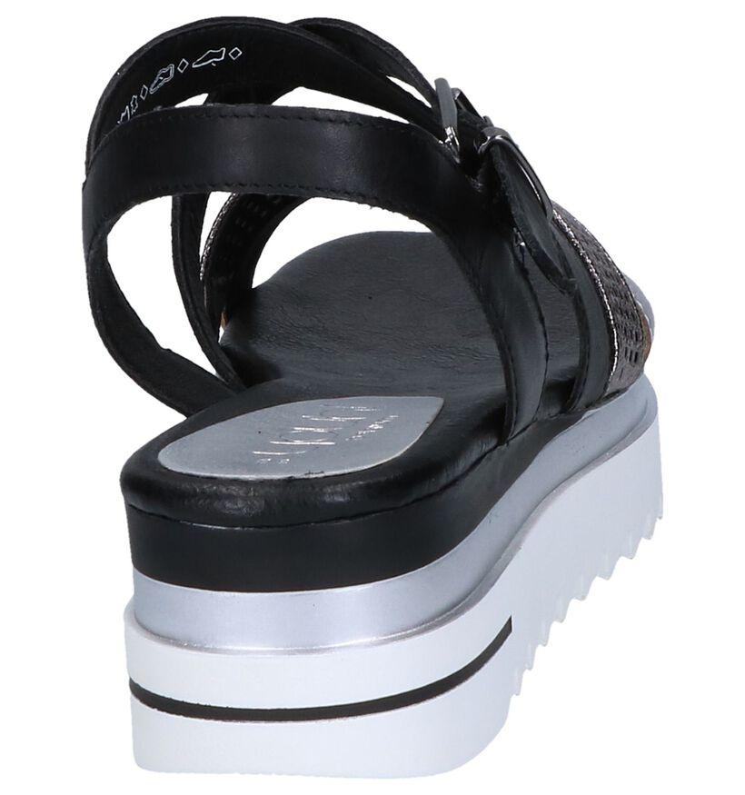 Youh! Sandales à talons en Noir en cuir (243033)