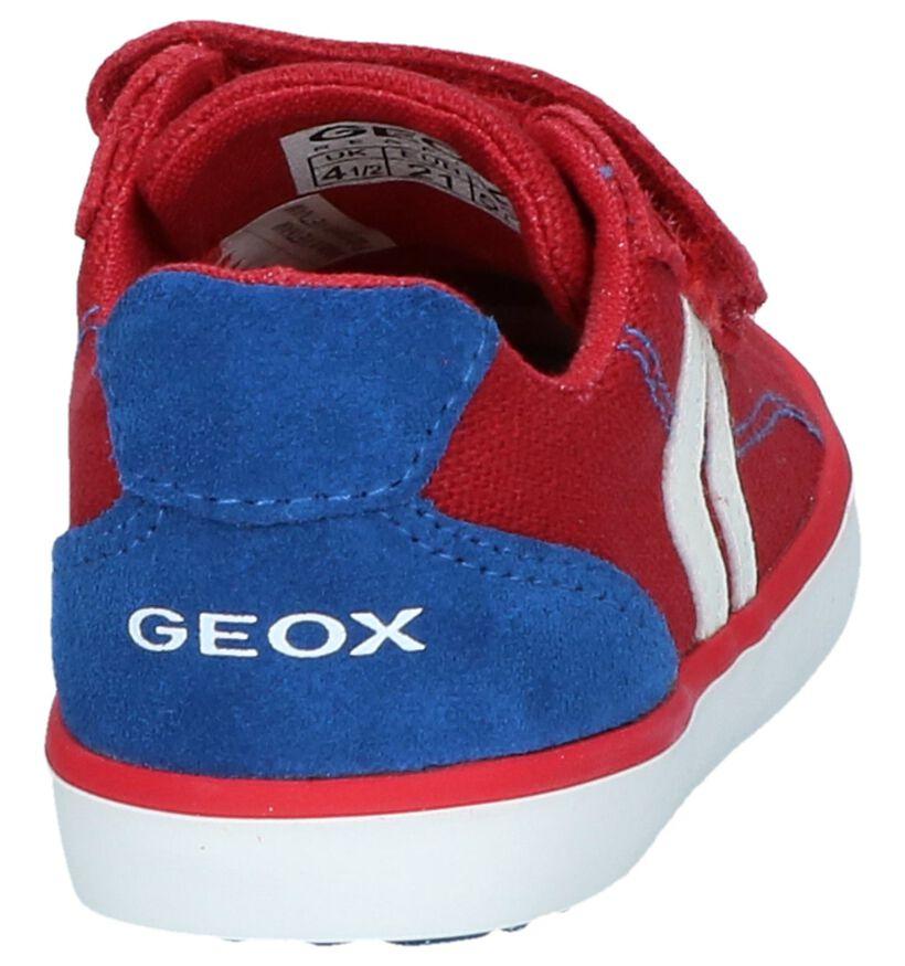 Rode Velcroschoenen Geox in daim (237986)