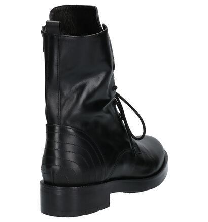 River Woods Zwarte Boots in leer (260298)
