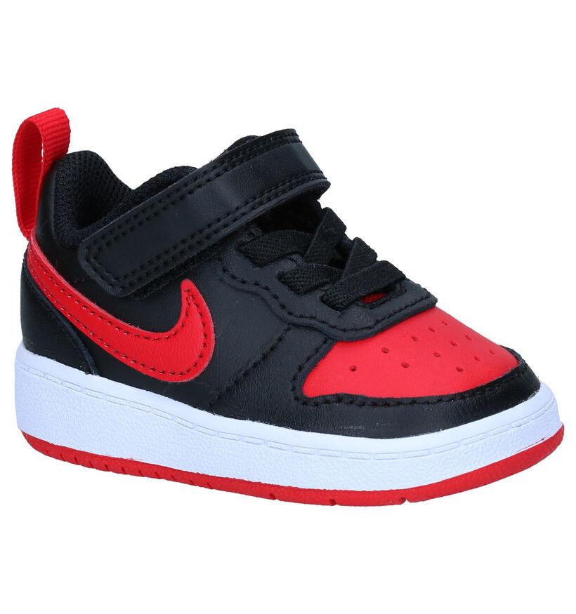 Nike Court Borough Baskets en Noir en cuir (293608)