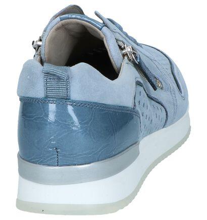 Gabor Chaussures à lacets en Bleu clair en cuir verni (245413)