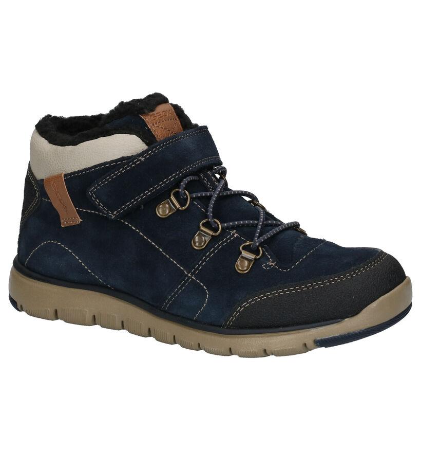 Geox Blauwe Boots in nubuck (254521)