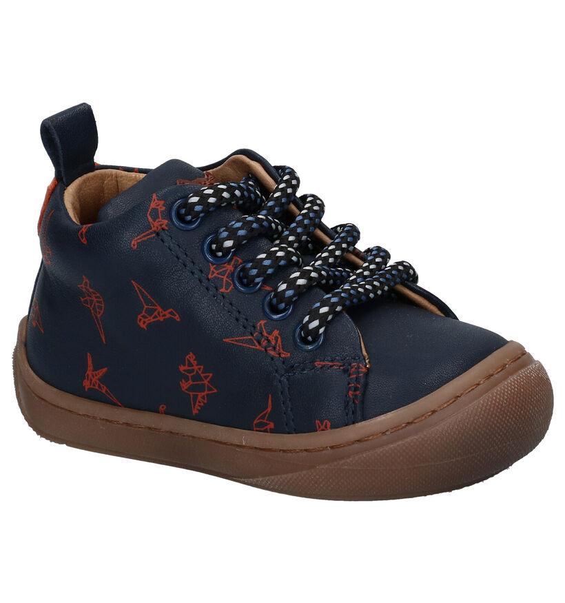 STONES and BONES Vorm Chaussures enfants en en Bleu en cuir (278879)