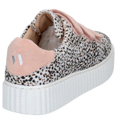 Vanessa Wu Witte Sneakers in stof (277325)