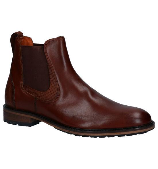 Van Lier Chelsea Boots en Cognac