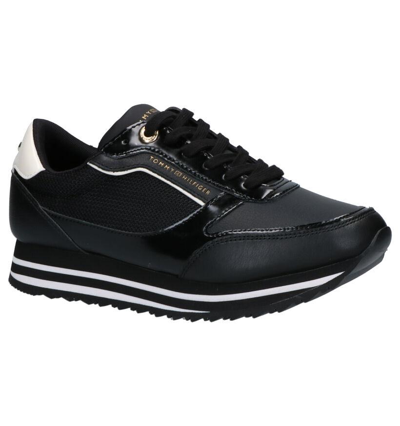 Tommy Hilfiger Chaussures à lacets en Noir en simili cuir (255918)