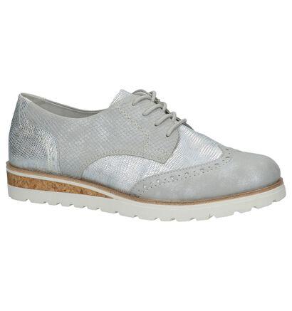 Remonte Chaussures à lacets en Argent en simili cuir (210087)