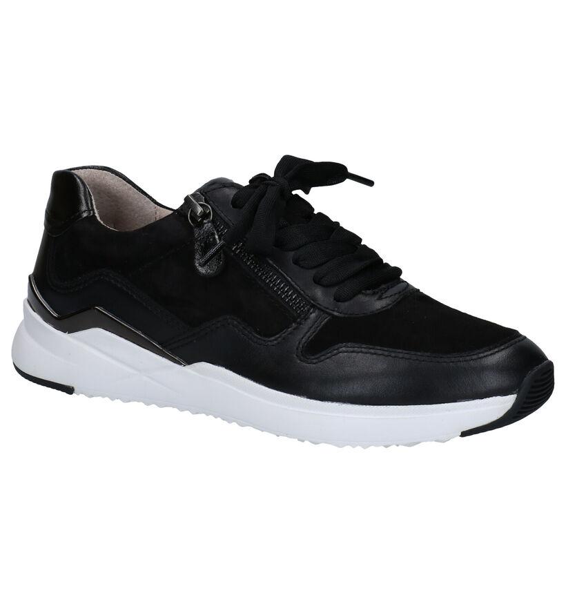 Gabor Best Fitting Chaussures à Lacets en Noir en cuir (283535)
