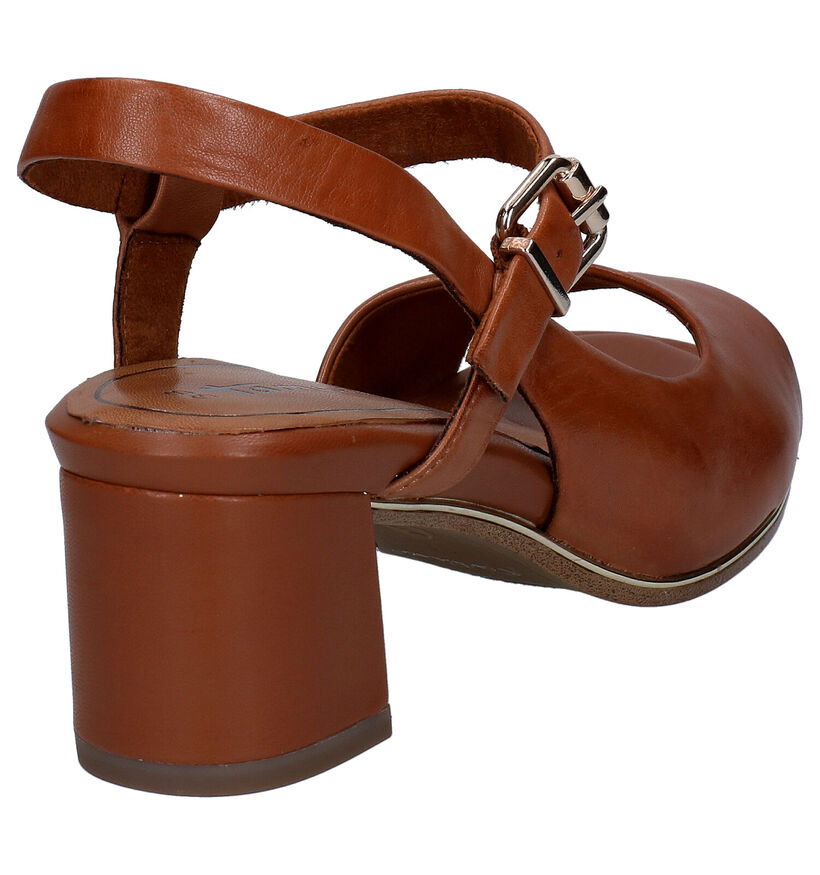Tamaris Touch it Sandales en Cognac en cuir (269760)