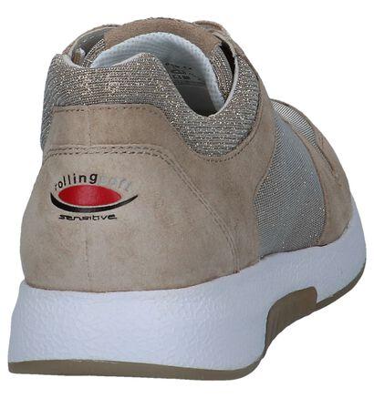 Gabor Rollingsoft Chaussures à lacets en Rouge en daim (245398)