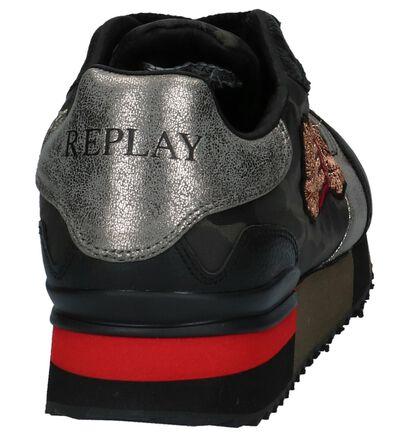 Replay Fuzzye Camouflage Sneakers met Verborgen Sleehak in kunstleer (231606)