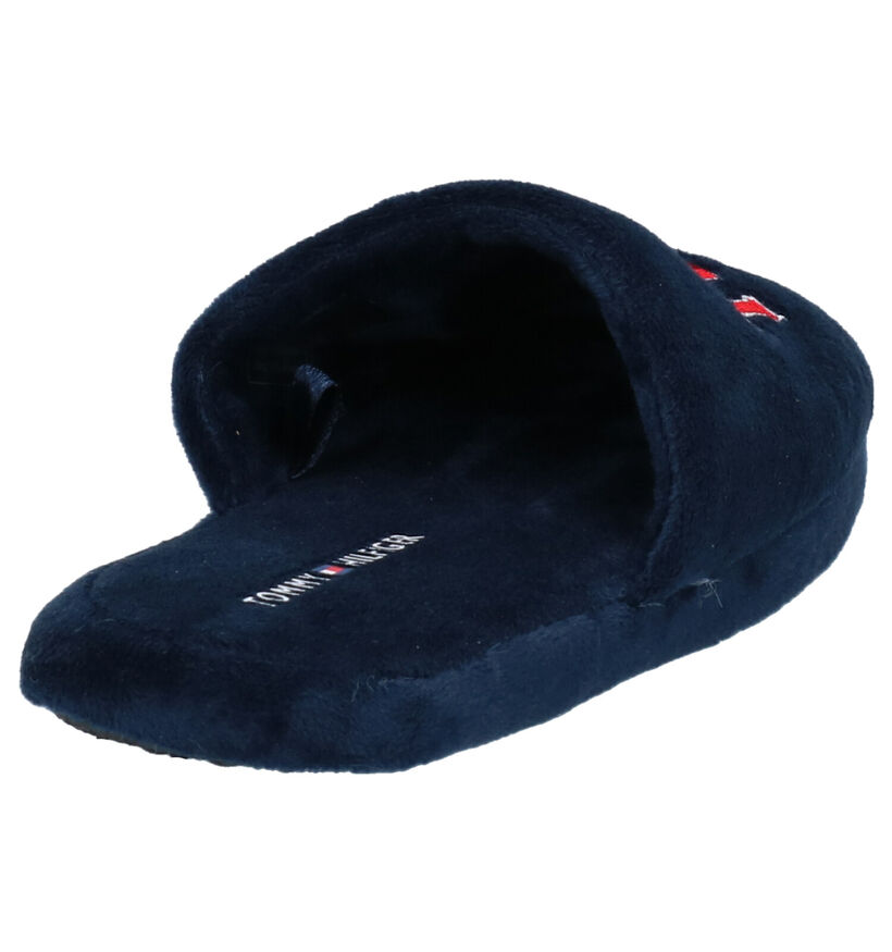 Tommy Hilfiger Pantoufles ouvertes en Bleu foncé en textile (260651)