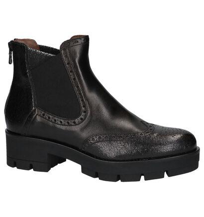 Zwarte Stoere Boots NeroGiardini in leer (226495)