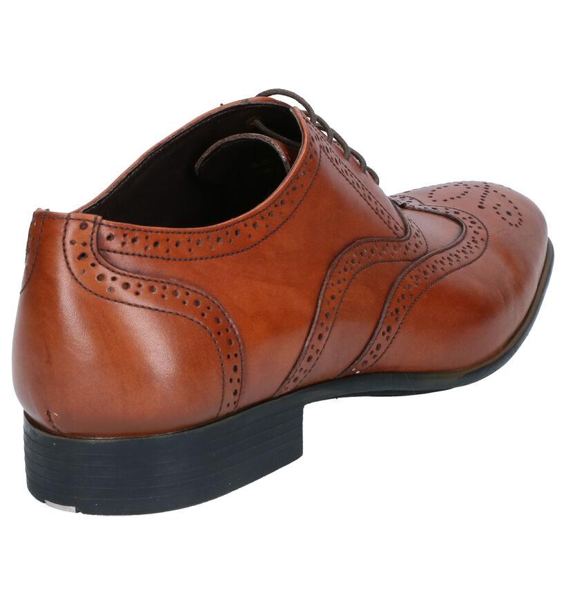 Ambiorix Chaussures habillées en Cognac en cuir (275258)