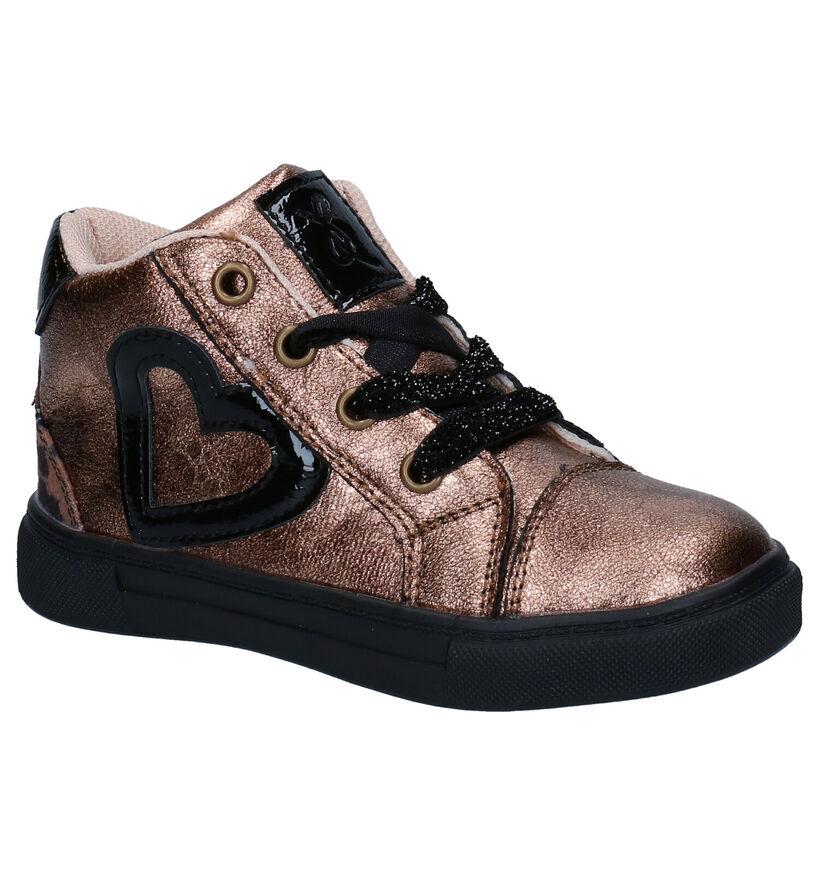 Milo & Mila Chaussures à lacets en Bronze en simili cuir (280834)