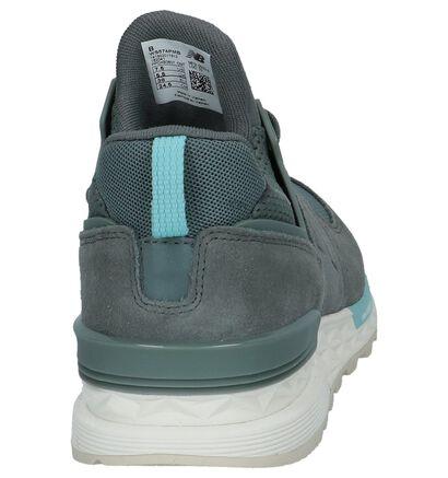 New Balance 574 Zwarte Sneakers in daim (261526)
