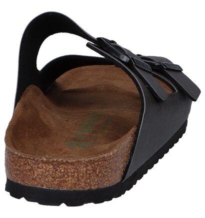 Birkenstock Arizona Donker Bruine Slippers, Grijs, pdp