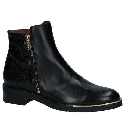 Wonders Zwart Geklede Boots in leer (232053)