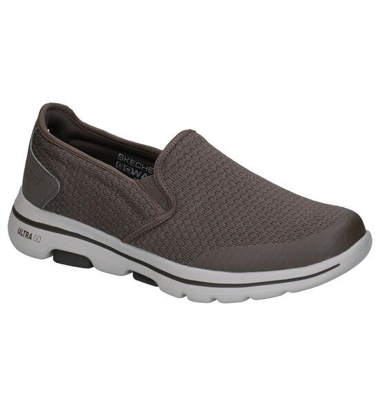 Skechers Go Walk 5 Kaki Slip-on Sneakers