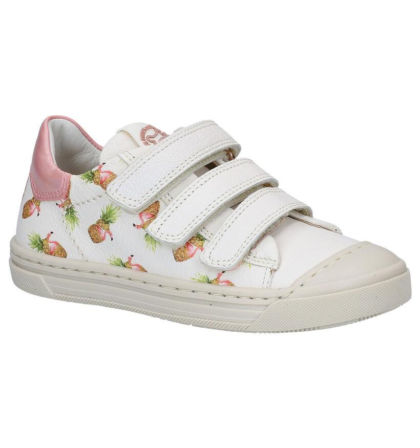 STONES and BONES Mitag Witte Sneakers in leer (287893)