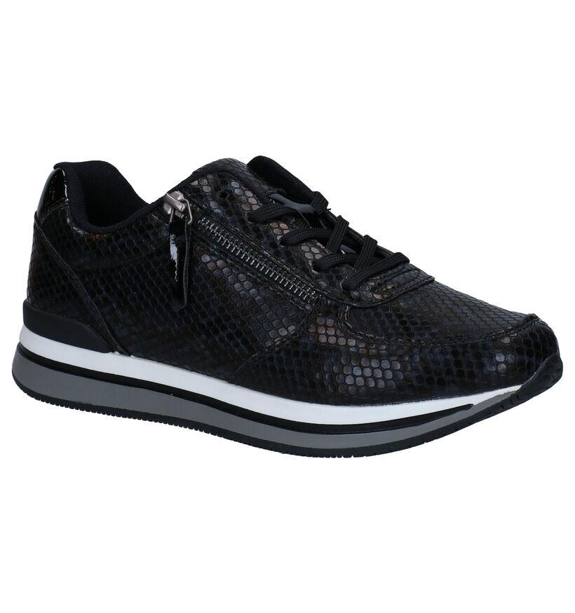 Sprox Chaussures à lacets en Noir en simili cuir (288451)