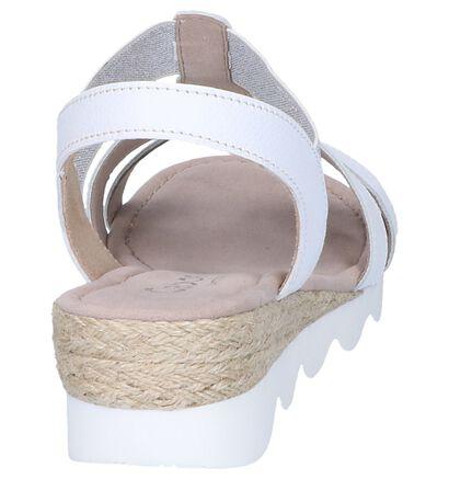 Gabor Comfort Sandales à talons en Blanc en cuir (245560)