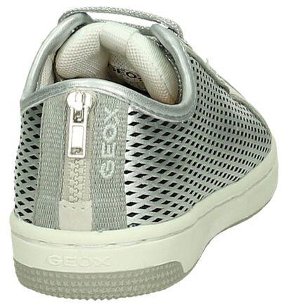 Geox Zilveren Veterschoen, Zilver, pdp