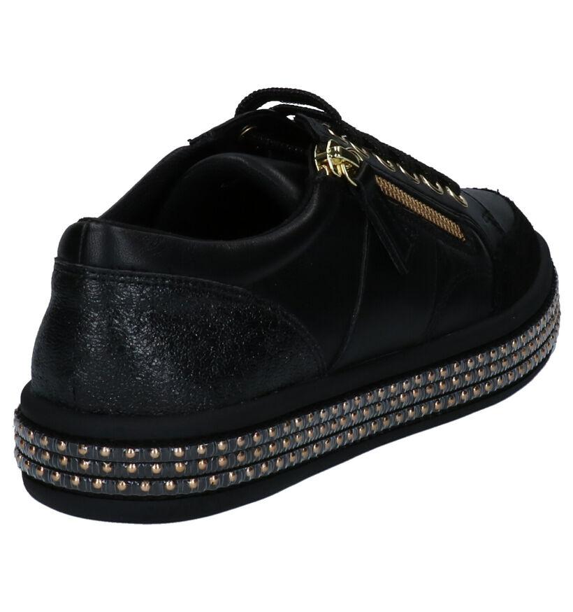 Geox Zwarte Sneakers in kunstleer (263890)
