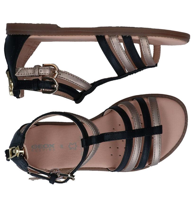 Geox Karly Sandales en Noir en simili cuir (286946)