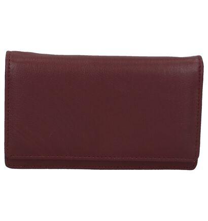Zwarte Overslagportefeuille Euro-Leather, Bordeaux, pdp