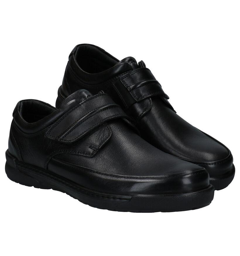 Ara Morits Zwarte Velcroschoenen in leer (282684)