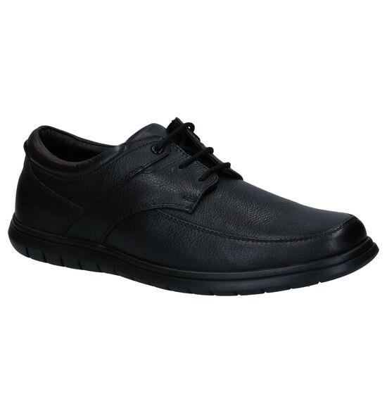 Comfort Plus Zwarte Veterschoenen
