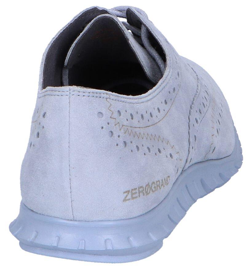 Cole Haan Chaussures à lacets en Gris clair en daim (240405)